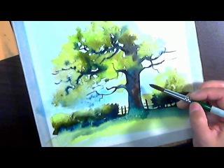 Watercolor tree in real time_demo_Natalia_Tokareva