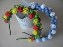 Обруч с розами из латекса Украшение для волос своими руками