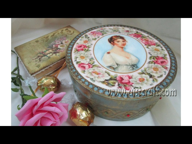 How to decorate a box decoupage Tutorial DIY