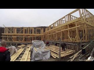 Строительство каркасной гостиницы под Туапсе - Дедеркой #3. Готов каркас, начинае...