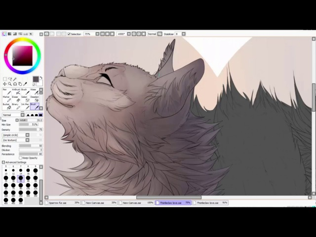 Snowfur and Thistleclaw - Speedpaint