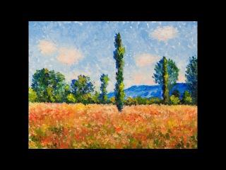 Татьяна Зубова. Пишем маслом маковое поле К. Моне | Oil painting Tatiana Zubova |Poppy field Monet