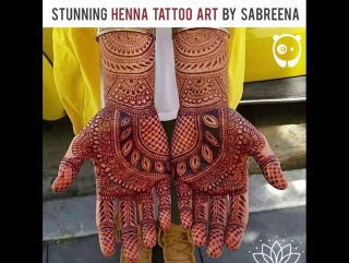 Stunning Henna Tattoo Art By Sabreena: