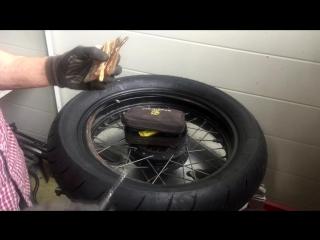 Ремонт бескамерного колеса мотоцикла
