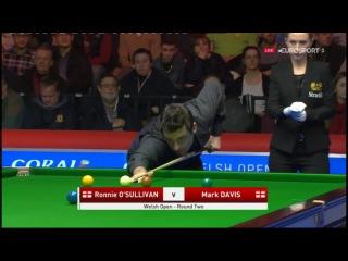 Ronnie O'Sullivan v Mark Davis Welsh Open 2017