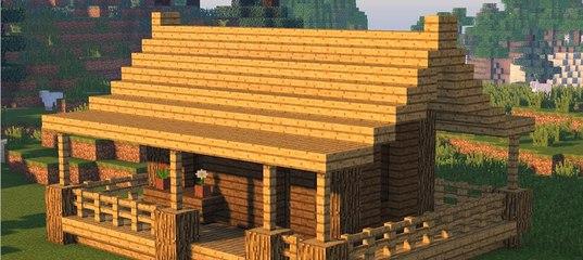 как построить начальный и красивый дом в майнкрафт #11