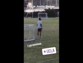 November 10th fan taken video of justin at ucla