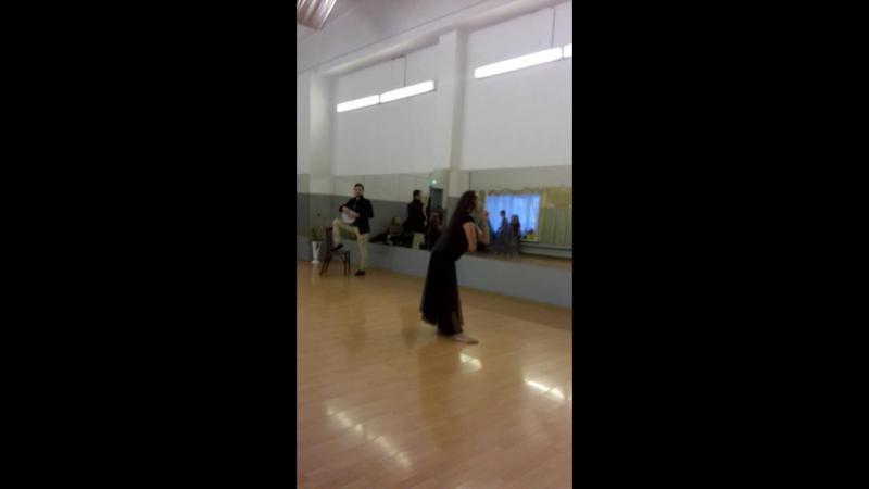 Репетиция Натальи Шалаевской и табаля Эмиля Махмудова
