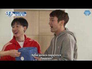 Sapphire SubTeam 171113 Шоу SJ Returns -  Спортивный день Super Junior: побег из ресторана, часть 1 (рус.саб)