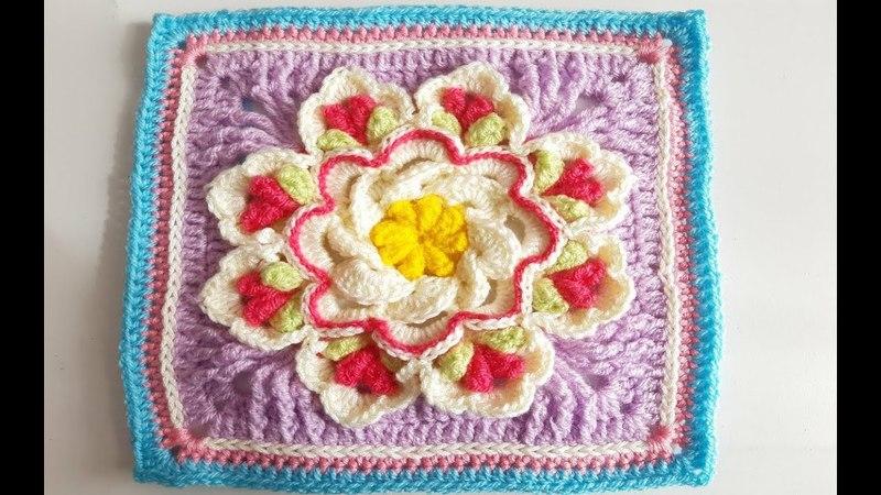 Granny Square a Crochet Ganchillo How To Crochet a Granny Square parte,