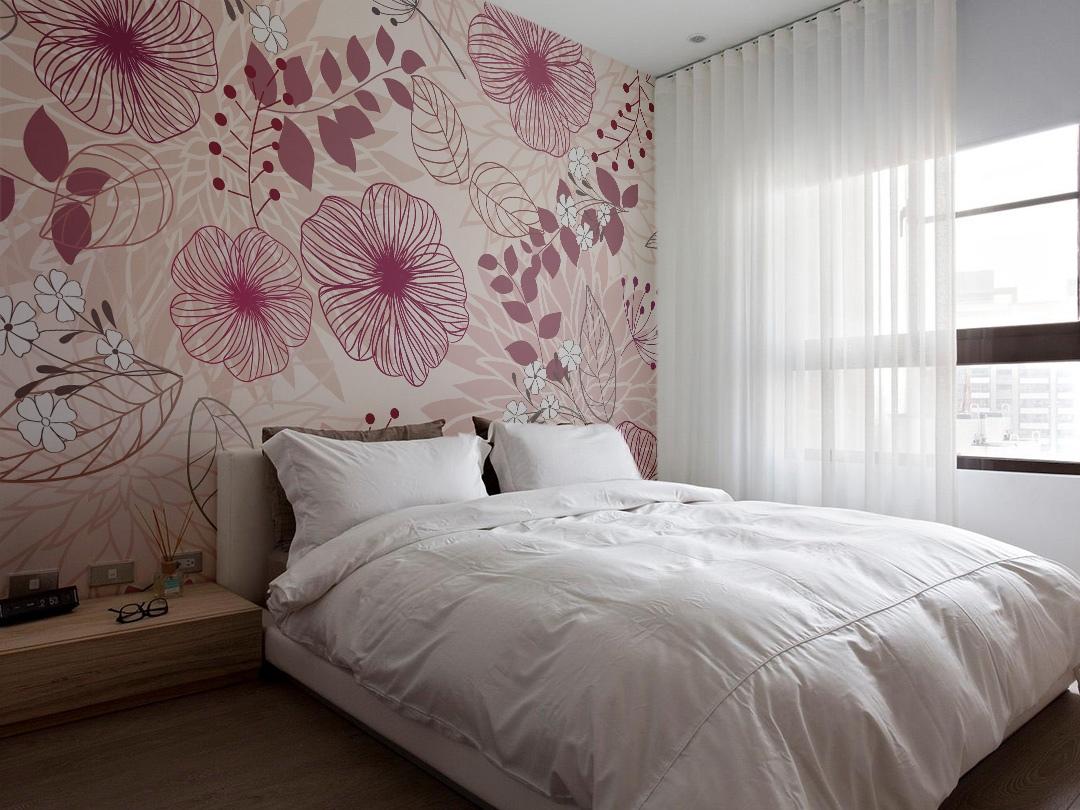 вещь выглядит обои для спальни с крупными цветами фото южной части