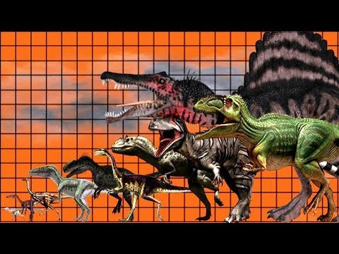 Size comparison of dinosaurs Ep 1 Carnivorous Theropods