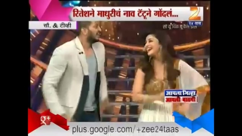 Мадхури и Ритеш танцуют под песню из фильма Sairat