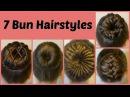 7 Ways To Make A Bun Using A Hair Donut Compilation 1 Week Of Bun Hairstyles