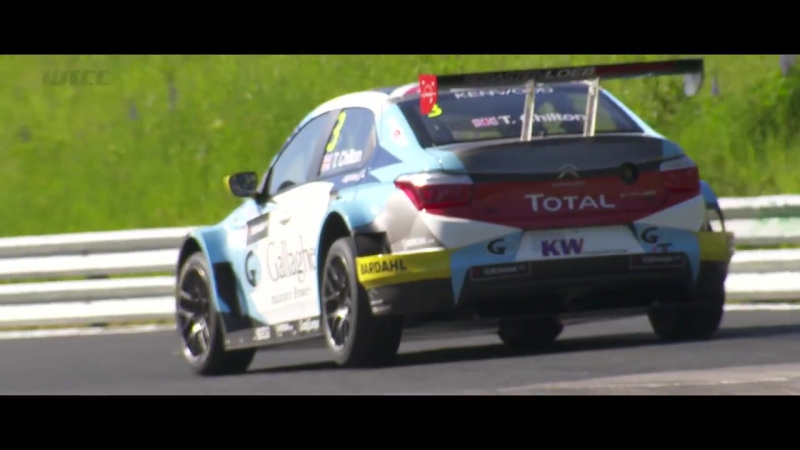 Its hard to keep these WTCC cars grounded at the Nurburgring Nordschliefe