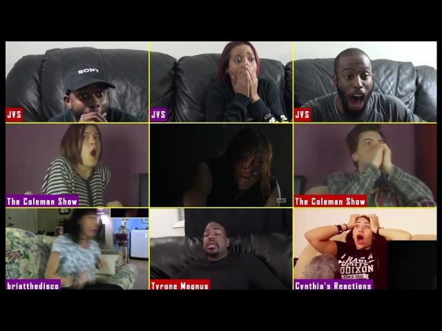 [Negan Kill] The Walking Dead Season 7 Episode 1 Reactions Mashup [4x4]