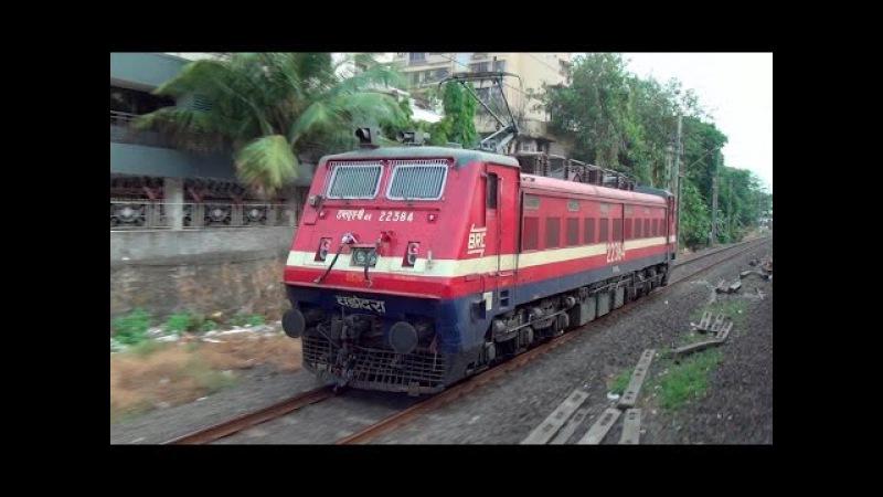 Extraordinary Parallel Running Race Between MEMU 5350Hp WAP 4 Locomotive from Andheri to Vileparle смотреть онлайн без регистрации