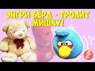 Энгри БЁРД в  гостях у Флэша - ТРОЛИТ МИШКУ!