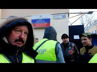 Дальнобои у отдела полиции в Пушкине. С освобождением!