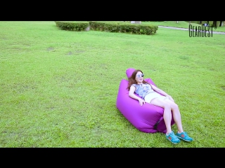 Ultralight Inflatable Lazy Sofa with Pillow Beach Chair  ----