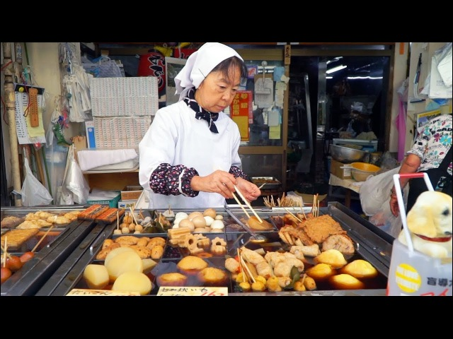 JAPANESE STREET FOOD Tokyo Street Food Tour AUTHENTIC Street Food in Japan BEST Oden in TOKYO