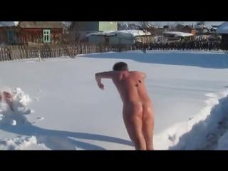 После парной прямиком в снег ...