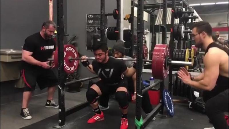 Эрджей Хизон - присед 275 кг (75 кг)