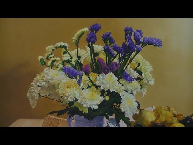 Pintura al óleo Flores y frutas