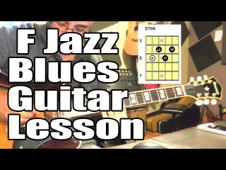 F Jazz Blues Guitar Comping Lesson   Three-Note Voicings