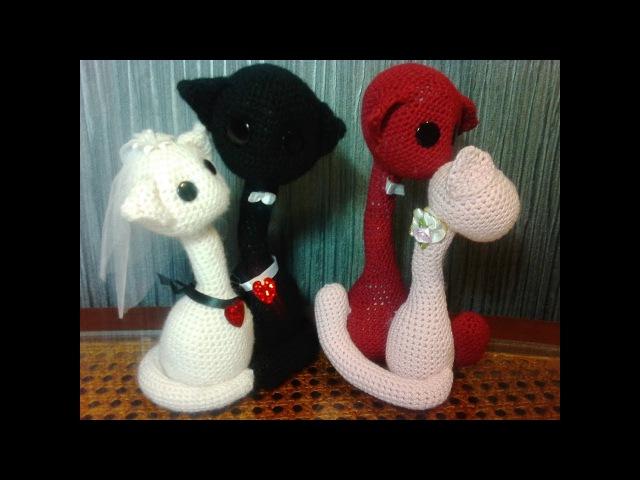 Котопарочка! Валентинка. ч.2. Cat couple! Valentine s Day.р.2. Amigurumi. Амигуруми.