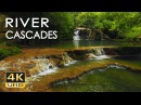 4K River Cascades Relaxing Waterfall Sounds Ultra HD Nature Video Water Flow White Noise