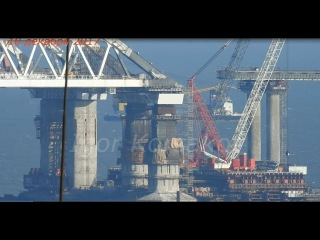 КрЫмский(декабрь 2017)мост! До арок 1 пролёт! Арки,пролёты,опоры!!!