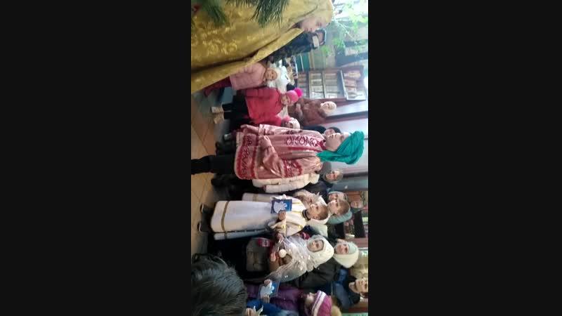 Поздравление воспитанников воскресной школы Храма Александра Невского г. Дебальцево с Рождеством Христовым!
