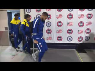 Ruben loftus-cheek is a doubt for the europa league final after suffering an ankle injury during chelseas friendly with new engl