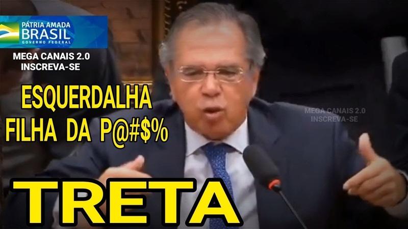 🔴INÉDITO! PAULO GUEDES DÁ PANCADA EM ESQUERDISTAS E TODOS FICARAM DOIDOS, ALUCINADOS