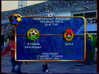 ЧР 2004 Кубань-ЦСКА 25 тур