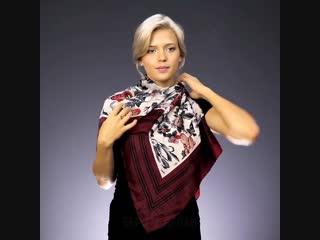 Как завязать платок на шее, лучшие способы