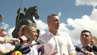 Віталій Кличко відкрив памятник Іллі Муромцю