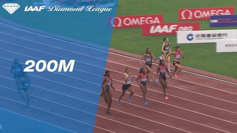 Shaunae Miller Uibo Wins Women s 200m IAAF Diamond League Shanghai 2018