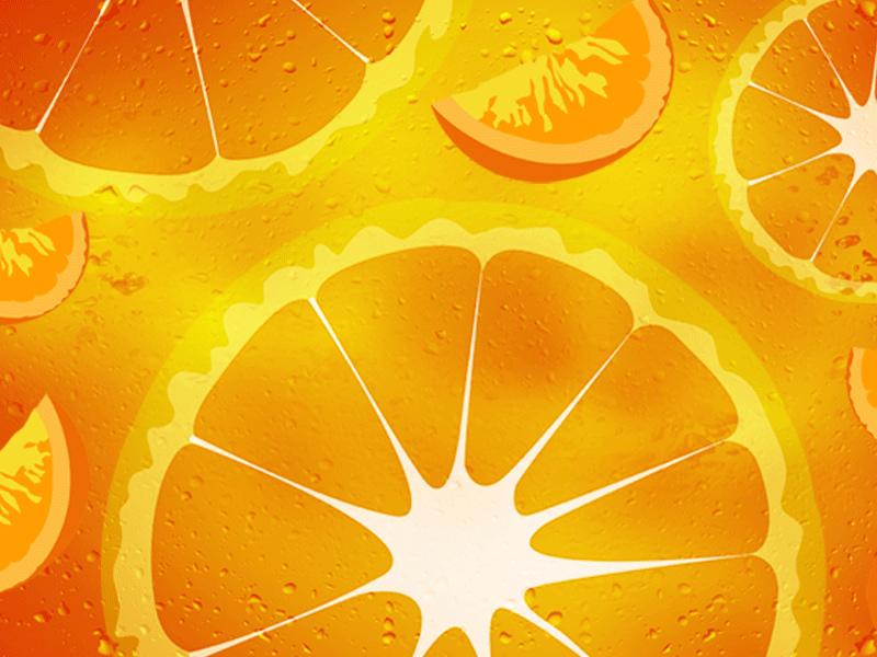 Анимация картинки апельсина