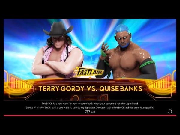 Terry Gordy vs Quise Banks WWE 2k19 CPU vs CPU