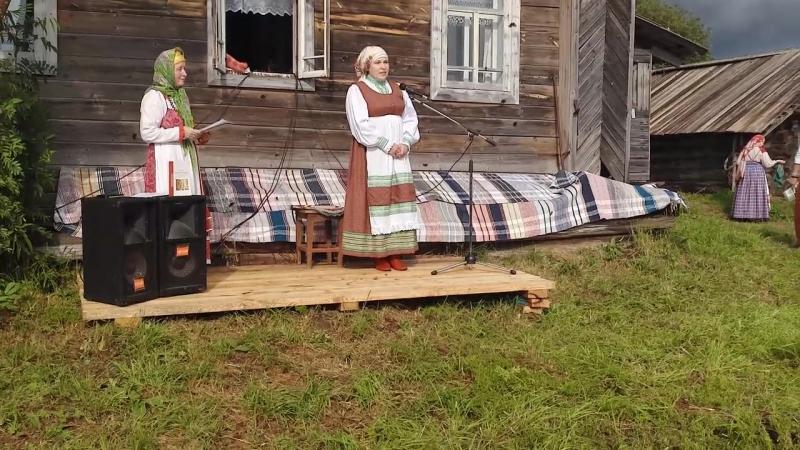Открытие вечера сказителей у дома Анастасии Петровны Дербиной д Смольянка