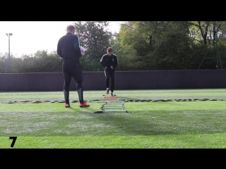 Football Training Routines using a Cross Ladder