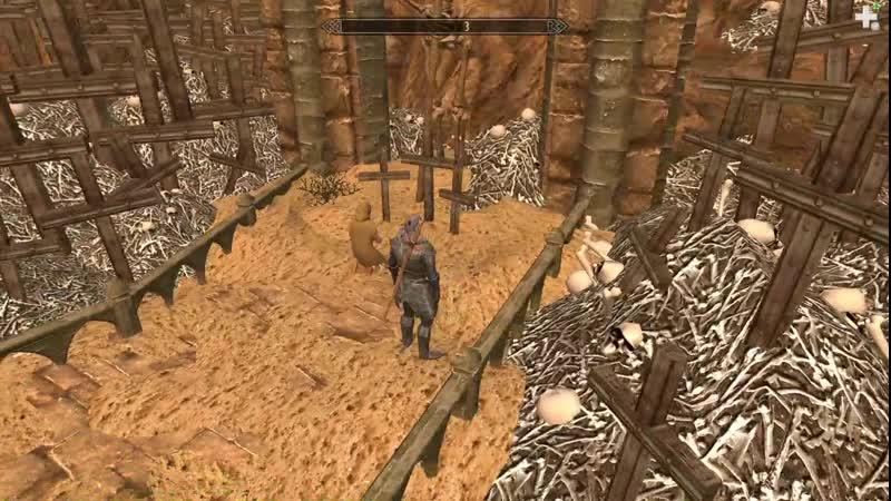 26 Лич Мериальмо играет в Дозорного Стендарра и бесит Молага Прогулки по кладбищу и в пещере