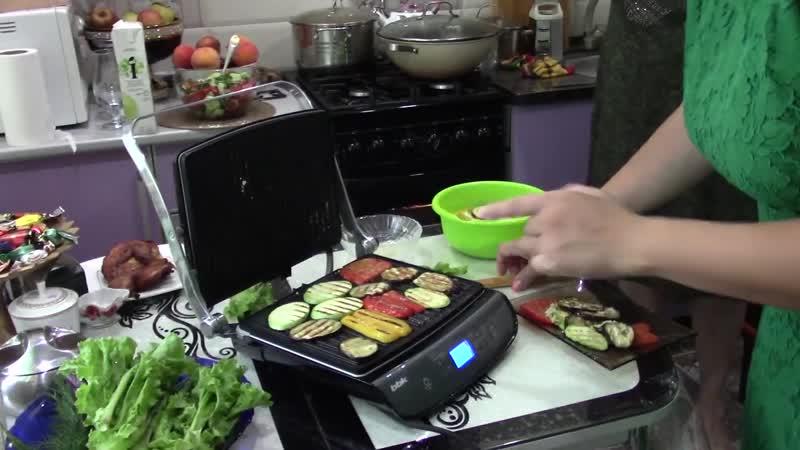 Овощи на электрогриле BBK