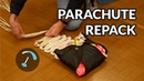 Repacking a reserve parachute for paragliding BANDARRA