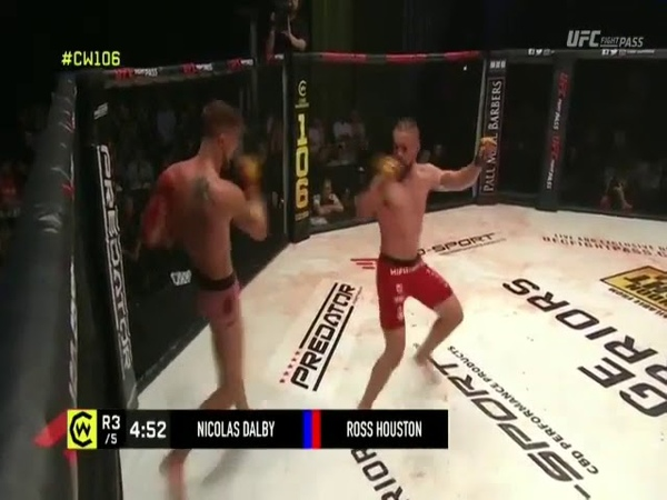 NICOLAS DALBY vs ROSS HOUSTON MMA PARTE 3