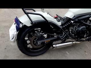 Kawasaki vulcan s sound with delkevic full 2-1 exhaust 410mm custom silenser bul