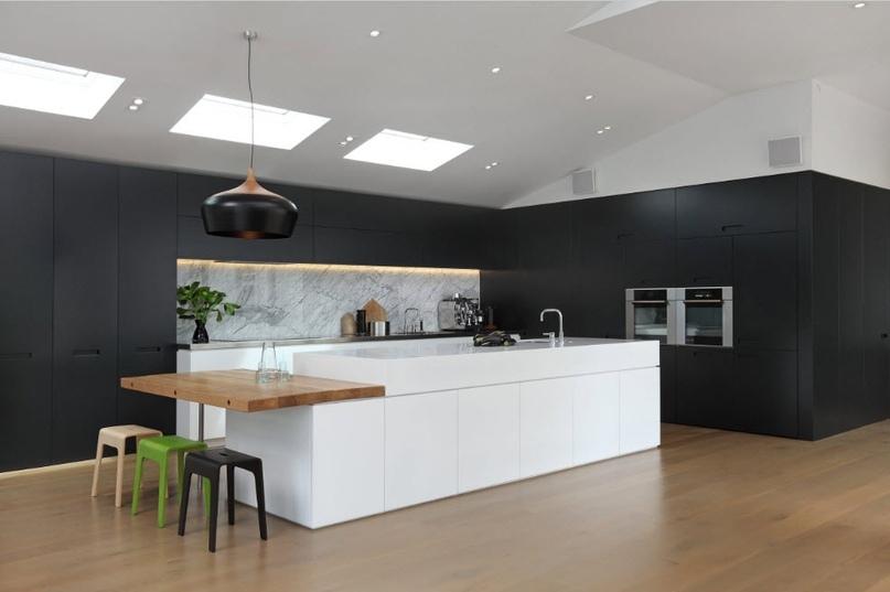 Черно-белая кухня – особенности контрастного дизайна., изображение №8