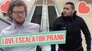 Pranque coup de foudre entre hommes en escalator Love escalator prank G Guillotin J Demayo
